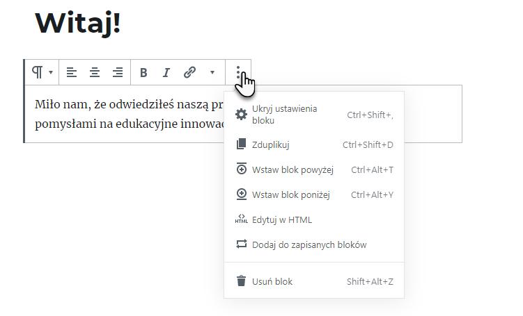 rozwijana lista narzędzi pojawiająca się po wybraniu jednego z wariantów na pasku narzędzi po wybraniu ikony trzech kropek