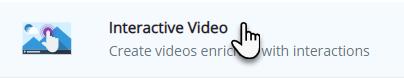 ikona prezentująca góry, a obok tekst Interactive Video