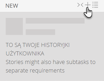 zakładka New i wskazana ikona plus, po której kliknięciu zostanie dodane nowe zadanie