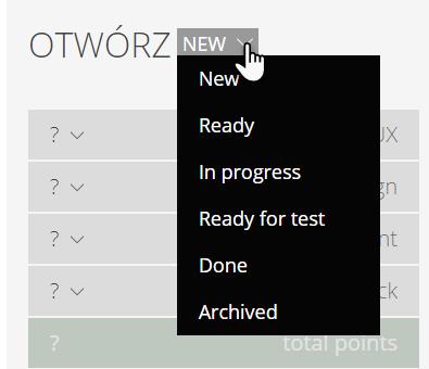 zakładka Otwórz i wskazany przycisk New rozwijający kilka opcji do wyboru
