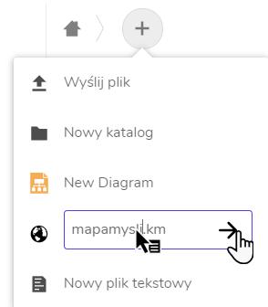 pole tekstowe, w którym wpisano nazwę nowej mapy myśli