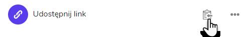 widok ikony udostępniania linku w ramach usługi Dysk