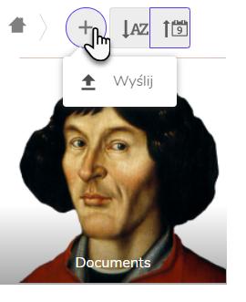 widok ikony wysyłania pliku i grafiki