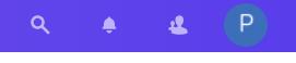 ikona zakładki lupa, powiadomienia, użytkownicy, nazwa użytkownika w ramach usługi Dysk
