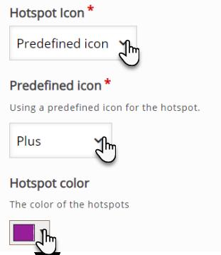 zakładka służąca edycji wyglądu przycisku Hotspota