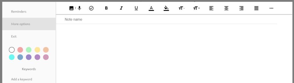 widok edytora tekstowego i paska z narzędziami