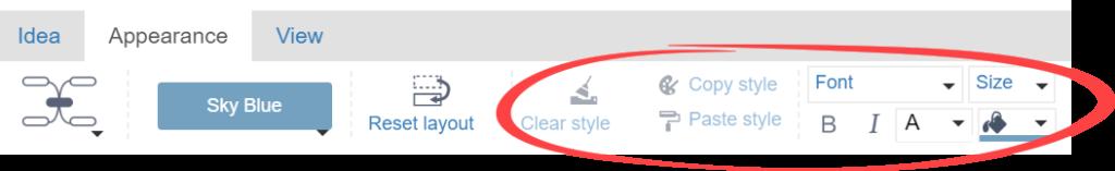 pasek narzędzi z zaznaczonymi kilkoma opcjami służącymi do edycji tekstu