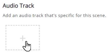 zakładka Audio Track i karta ze znakiem plus, gdzie dodaje się pliki dźwiękowe